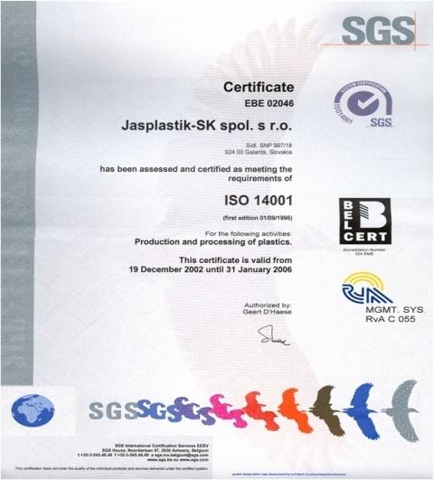 certifikát iso 14001